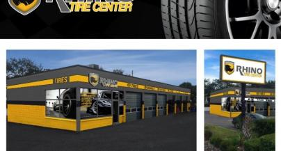 The logo rhino tire usa of car tyres
